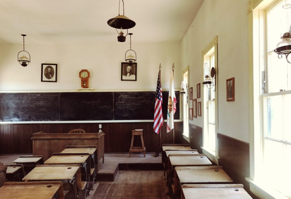 Inside of a classroom